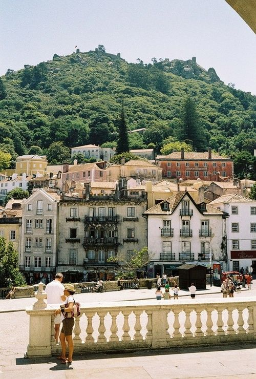 Romantic #Sintra and its Mountain with walls and Moorish castle, Portugal