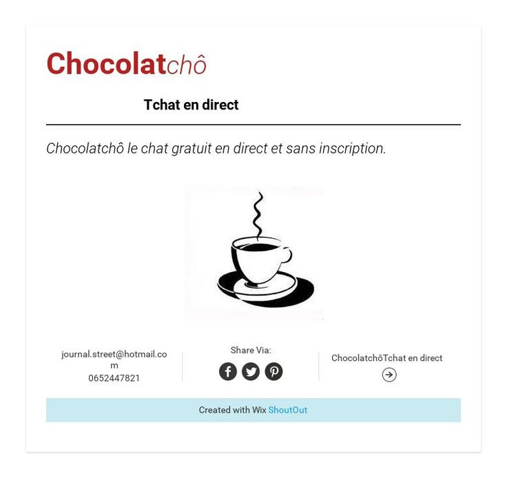 chocolatch tchat en direct