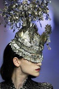"Alexander McQueen SS08, ""La Dame Bleue"", Dazed Digital"