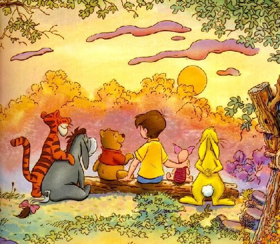 Pooh & The Gang enjoy the sunset