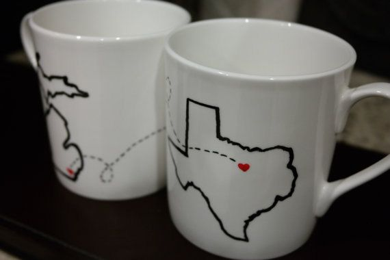 State or Country Heart Mugs with Quotes Best by TheCritterNest