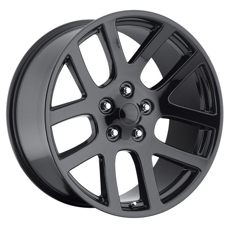 Dodge Ram 1998-2010 20x9 5x5.5 +25.4 - SRT10 Replica Wheel -  Gloss Black Cap