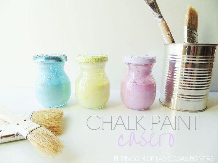 El rincón de las cosas bonitas: Cómo hacer chalk paint o pintura de pizarra casera...