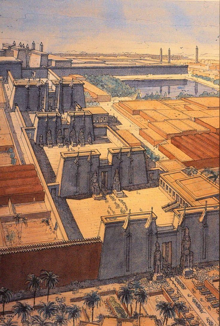 Egypt - Karnak - The processional alley  jeanclaudegolvin.com