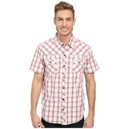 Xavier Shirt, Brick Red, M : A stylish and comfortable button down shirt with stand collar, great for all day wear.