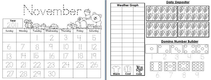 Aloha Kindergarten!: Calendar Math Journals