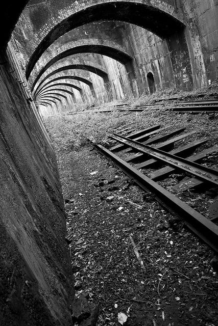 Connaught Rail Tunnels part of the North London Line from Stratford... by badwabbit, via Flickr