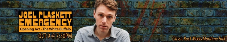 Joel Plaskett  Tuesday October 9th, 2012 at 7:30pm    Joel Plaskett is a Canadian singer, songwriter and musician whose music fuses the energetic melodies and hooks of power pop with the muscular strength of hard rock.