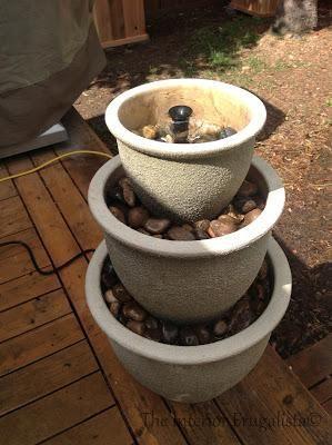 DIY garden fountain DIY Plant Pots to Water Fountain