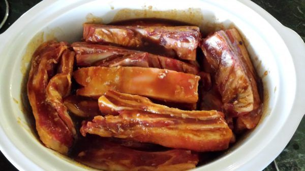 Sweet and sticky Lamb Flaps.   Lamb Flap is the belly of the lamb (the Lamb equivalent of pork belly)