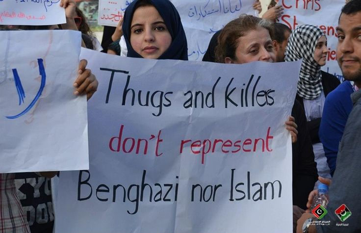 12 photos of Benghazi citizens apologizing to Americans