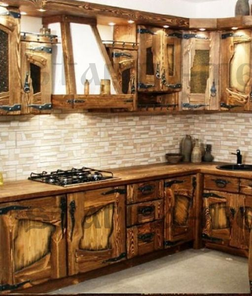 Кухня из дерева своими руками под старину