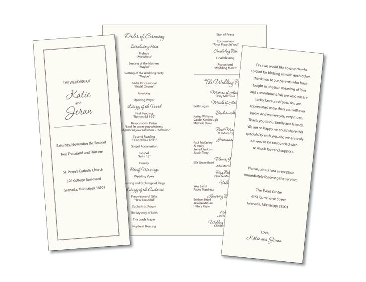 Simple Wedding Ideas Program: Elegant wedding program ceremony ...