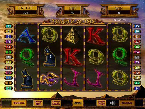 Play Temple of Isis Progressive Slot @ Moon Games