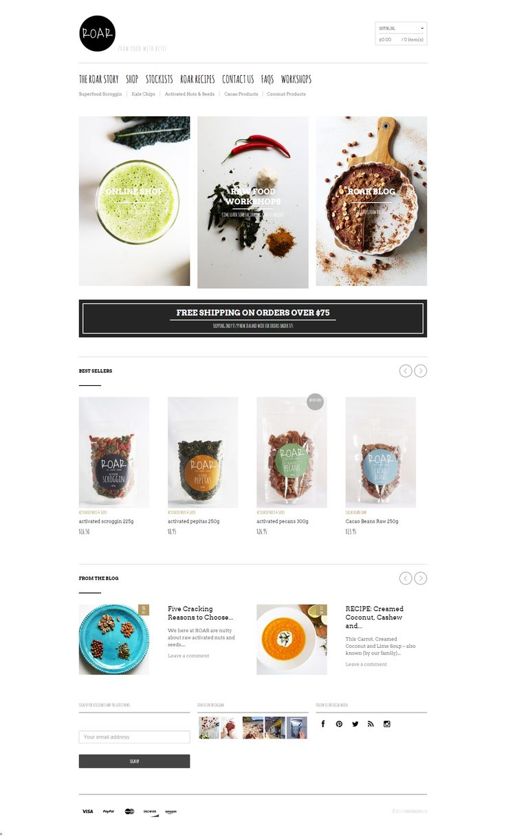 www.roarfood.co.nz was created using The Retailer Premium Responsive WordPress Theme. #siteoftheday #website #wordpress #ecommerce #food https://themeforest.net/item/the-retailer-responsive-wordpress-theme/4287447?utm_source=pinterest.com&utm_medium=social&utm_content=roar&utm_campaign=showcase