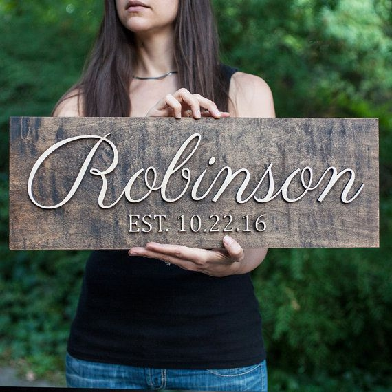 Family Name Sign  3D  Wedding Established Sign   Wedding