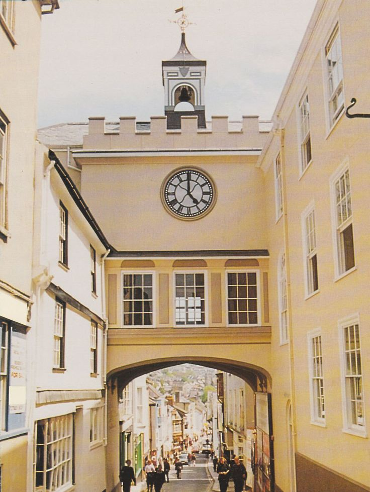 The Arch Clock tower over looking the town