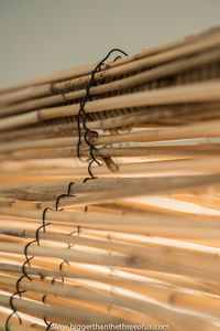 DIY bamboo blinds from fencing