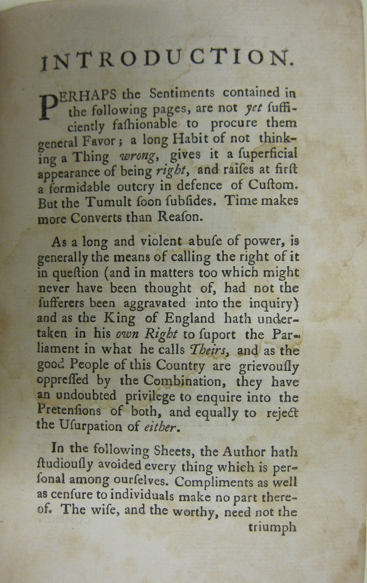 an introduction to the background of thomas paine Thomas paine was one of the greatest advocates of freedom in history, and his   this is a good introduction to thomas paine (1737-1809) and his works.