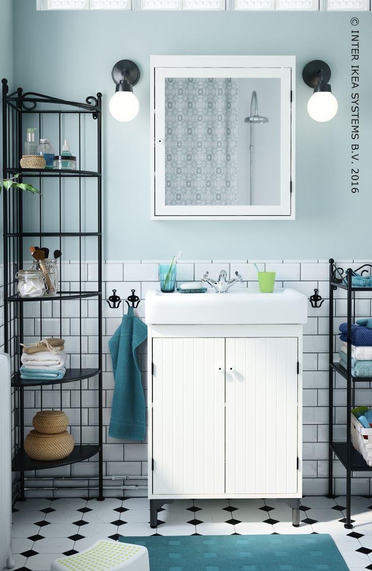 Meuble salle de bain ikea lillangen - Ikea meuble rangement salle de bain ...