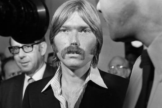 """LA- Terrence P. """"Terry"""" Melcher, 27-year-old son of actress Doris Day, attends the Grand Jury probe into the Sharon Tate murder case.  Terry  knew suspect Charles Manson. (1969)"""