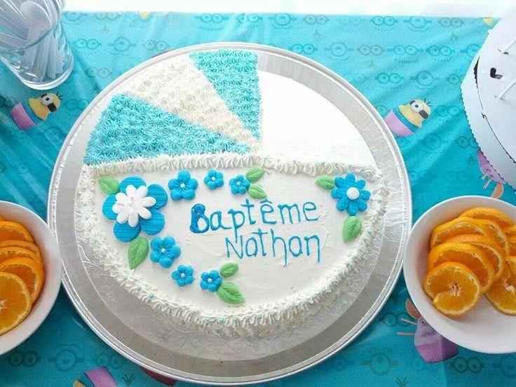 Gâteau chocolat crème au beurre pour le Baptême à Nathan