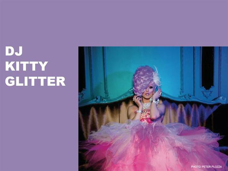 #DJ Kitty Glitter is one of the best international #drag DJ's. Her unique style & uplifting energy behind the decks radiates across every dance floor she plays on.