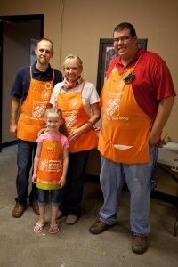 Birthday party AT Home Depot!