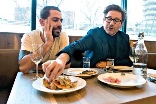 First Look at Café Altro Paradiso, the Estela Team's New York Take on a Classic Italian Restaurant: Ignacio Mattos, left, and Thomas Carter.