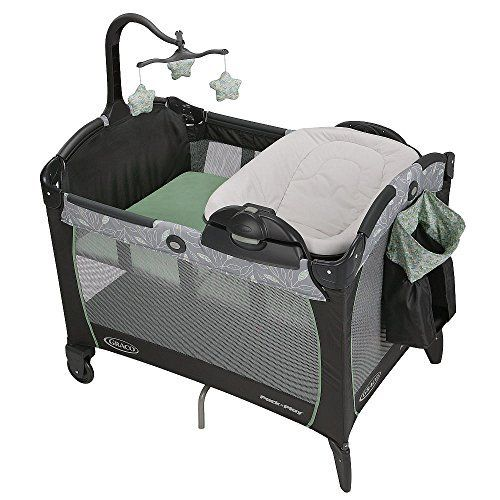 http://allabouttoys.net/graco-pack-n-play-portable-napper-changer-greenhill-by-graco/ - Graco Pack n Play Portable Napper & Changer - Greenhill