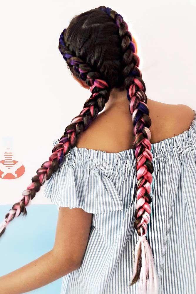 33 Braided Kanekalon Hair For Perfect Summer Lovehairstyles Braided Hair Kanekalon Lovehairstyles Perfect Su In 2020 Rave Hair Kanekalon Hairstyles Hair Styles