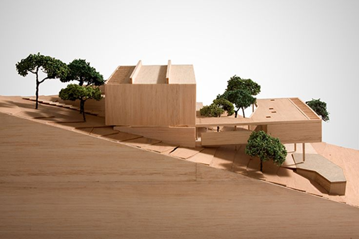 I really love how plain and simple this design is and how the 3d model of the house reflects the landscape and terrace to which it is situated