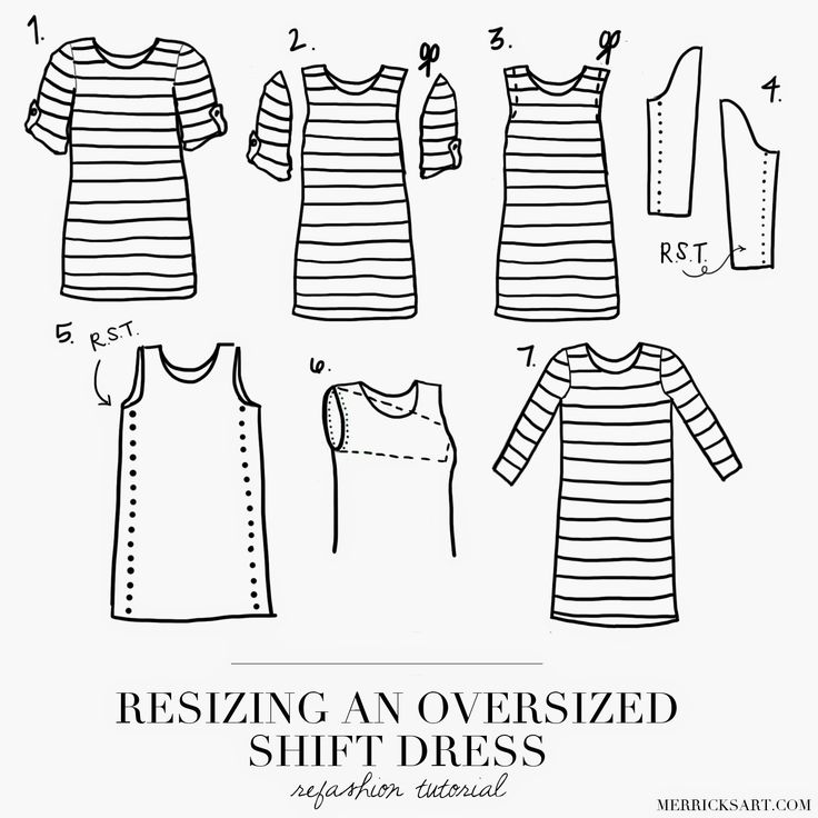 How to resize an oversized shift dress! #sewing #tutorial #helpful