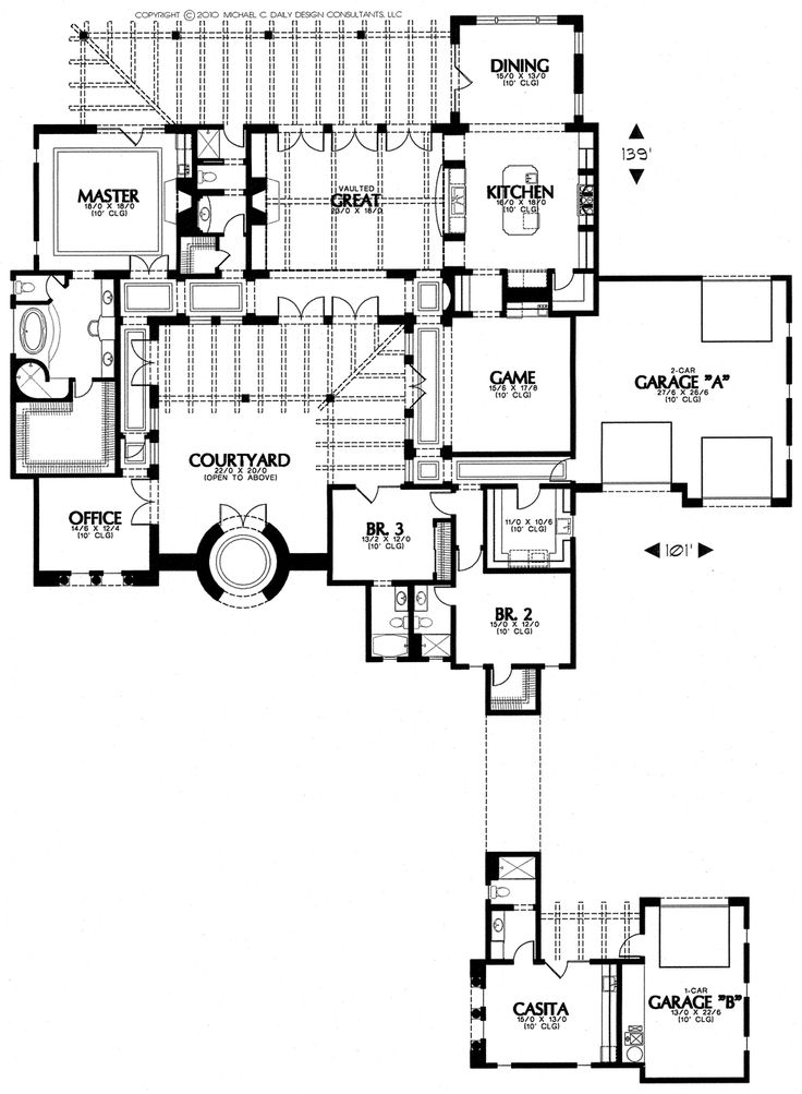 Tuscan style house plans with courtyard Tuscan home floor plans