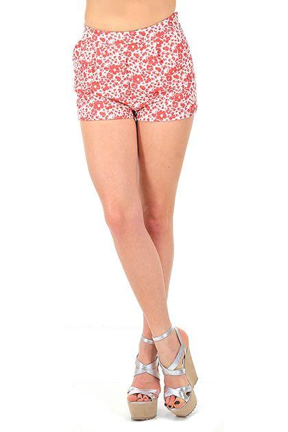 Kocca - Pantaloni - Abbigliamento - Shorts a vita alta in cotone con zip laterale di chiusura. Tasche laterali ed a filetto sul retro.La nostra modella indossa la taglia /EU 38. - F1030 - € 85.00