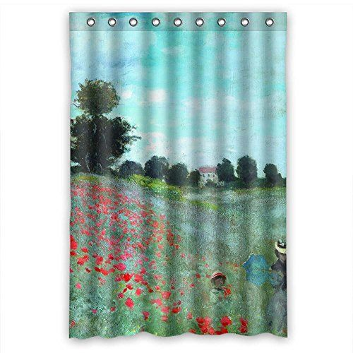 painting bathroom tips for beginners. zeezon width x height / 48 72 inches w h 120 by 180 cm polyester claude monet art painting bathroom curtains fabric is fit for kids girl lover husband tips beginners