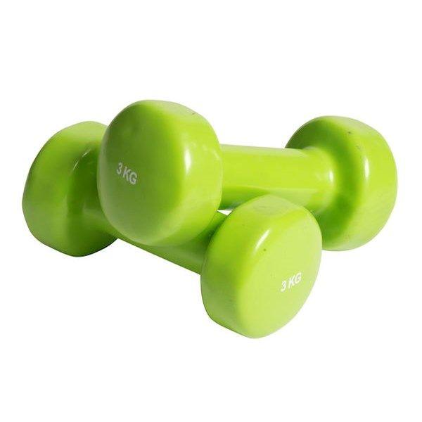 Vinylbelagda med en mjuk och hållfast yta. För klassisk styrketräning som bygger muskler. Börja med lättare vikter och ö...