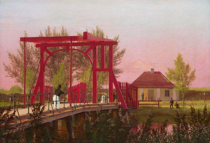 Christen Købke, «The Northern Drawbridge to the Citadel in Copenhagen»