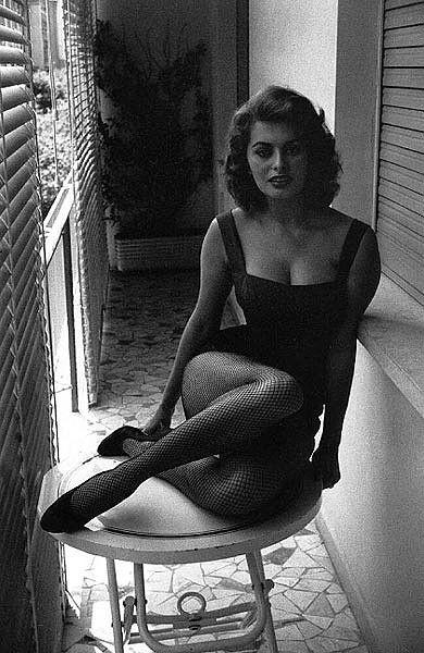 Sophia Loren photographed by David Seymour inRome, 1956