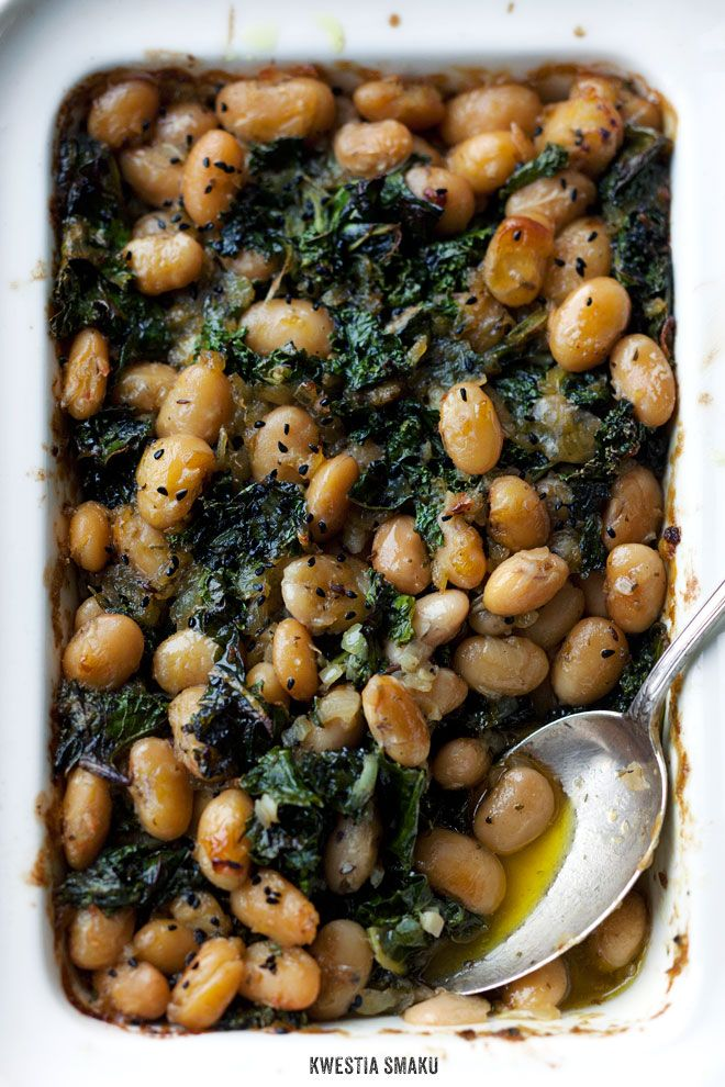 Baked Beans with Kale