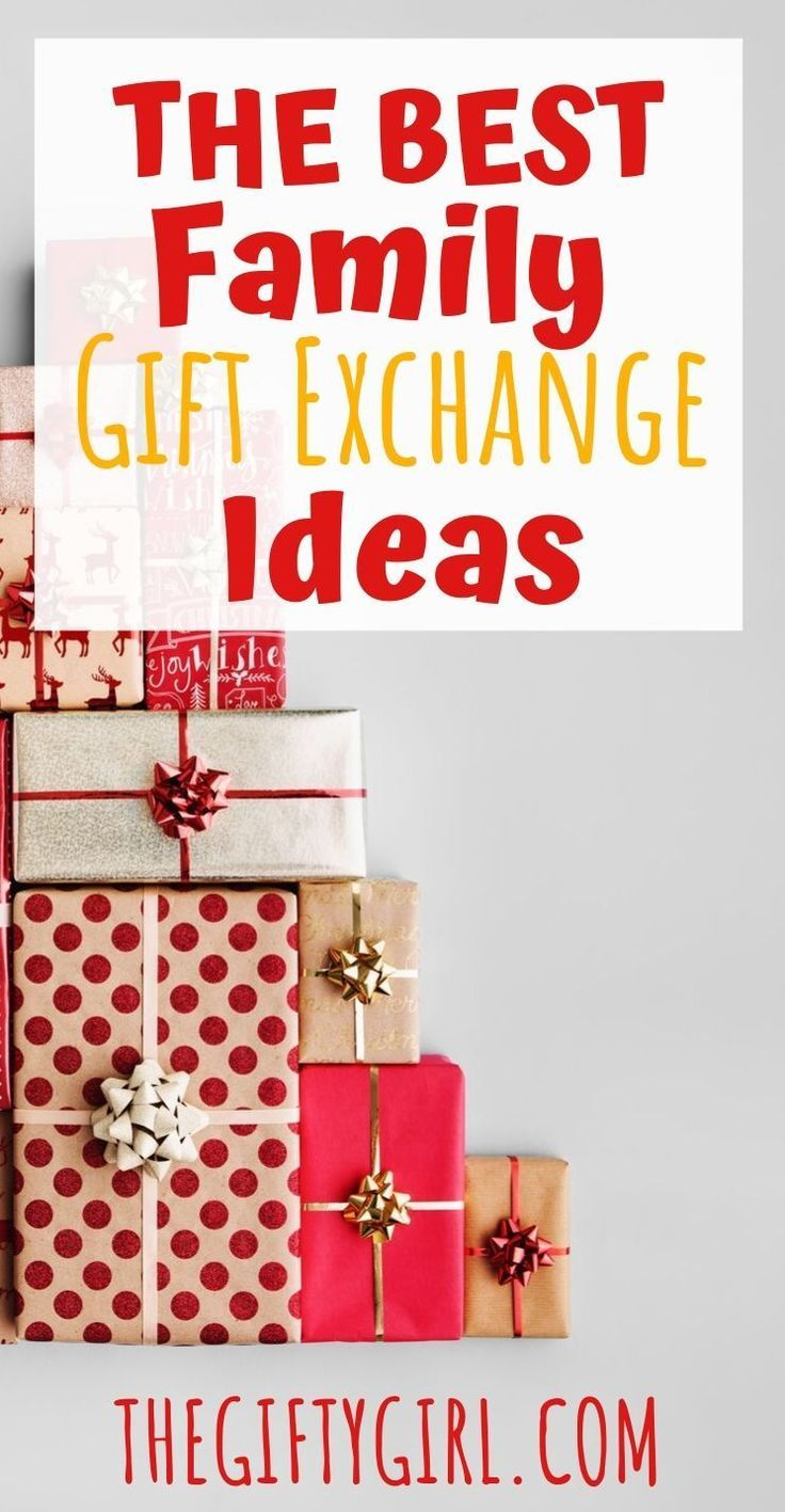 The 15 Best Gift Exchange Ideas For Families The Gifty Girl Family Gift Exchange Family Holiday Gifts Christmas Gift Exchange