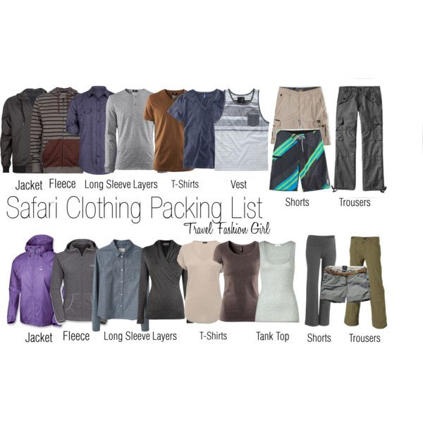 Safari Clothing Packing List by travelfashiongirl