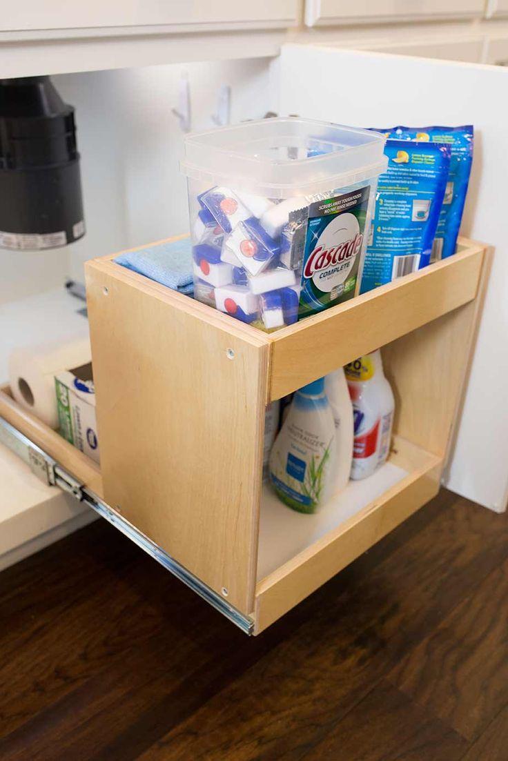 shelf genie under sink pull out shelving kitchen solutions home kitchen kitchen shelves. Black Bedroom Furniture Sets. Home Design Ideas