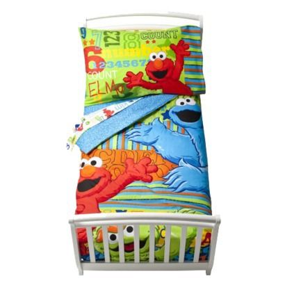 Sesame Street ABC 123 4 Pc Bed Set   Toddler
