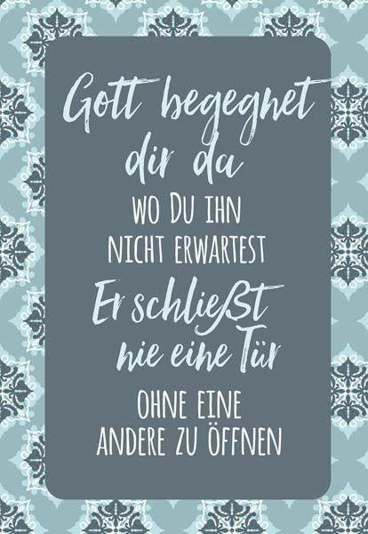 Wandschmuckschild Gott begegnet dir da | Bolanz Verlag e.K.