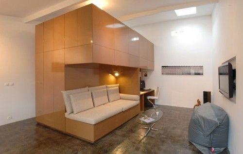 квартира в гараже, перепланировка гаража, дешевая квартира, переделка гаража в жилье, красивый интерьер, необычная квартира
