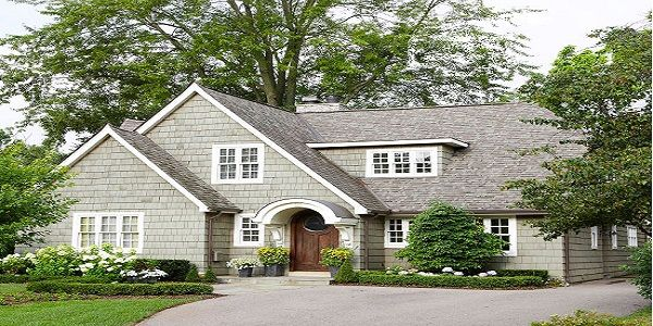 Exterior Home Design with Repave Driveway