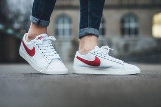 cdecfbe9a Nike Blazer Low Premium white gym red sail womens sneaker