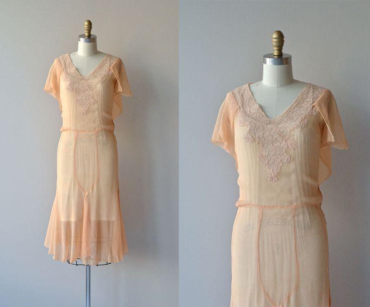 The Gaiety dress • vintage 1920s dress • silk chiffon 20s dress by DearGolden on Etsy https://www.etsy.com/listing/193322272/the-gaiety-dress-vintage-1920s-dress
