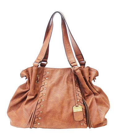 This color goes with everything. Luggage Bohemia Rap Drawstring Tote by Jessica Simpson #zulilyfinds